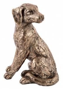 Bilde av Hund antikkgull H 20cm