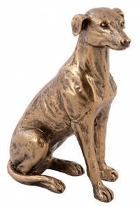 Bilde av Hund antikkgull H 13cm