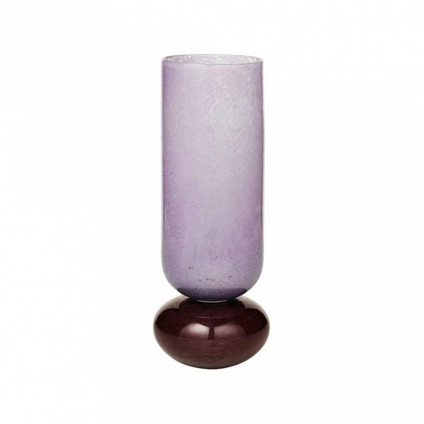 Vase munnblåst glass lilla/burgunder H 31cm