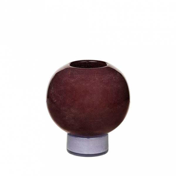 Vase munnblåst glass H 21cm