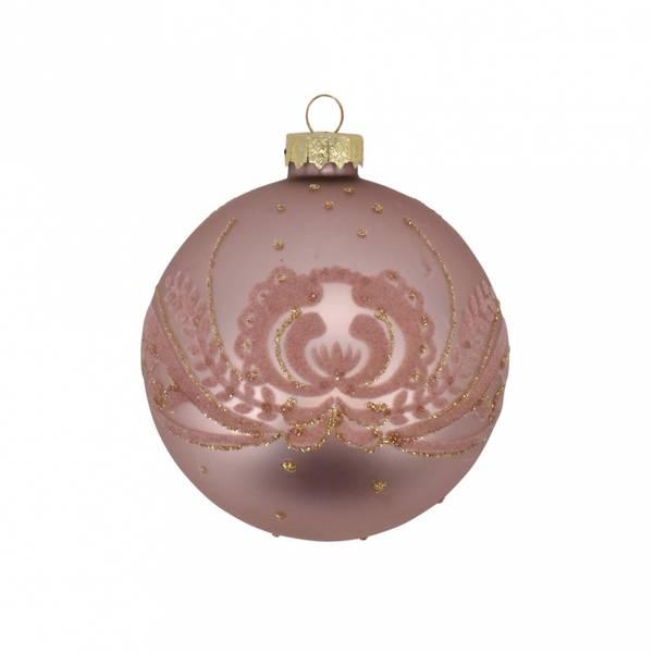 Juletrekule Ø 8cm Rosa